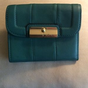 "Gorgeous Teal Leather ""COACH"" Wallet"